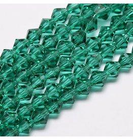 4mm Bicone  Green   'AA'  Grade  x95