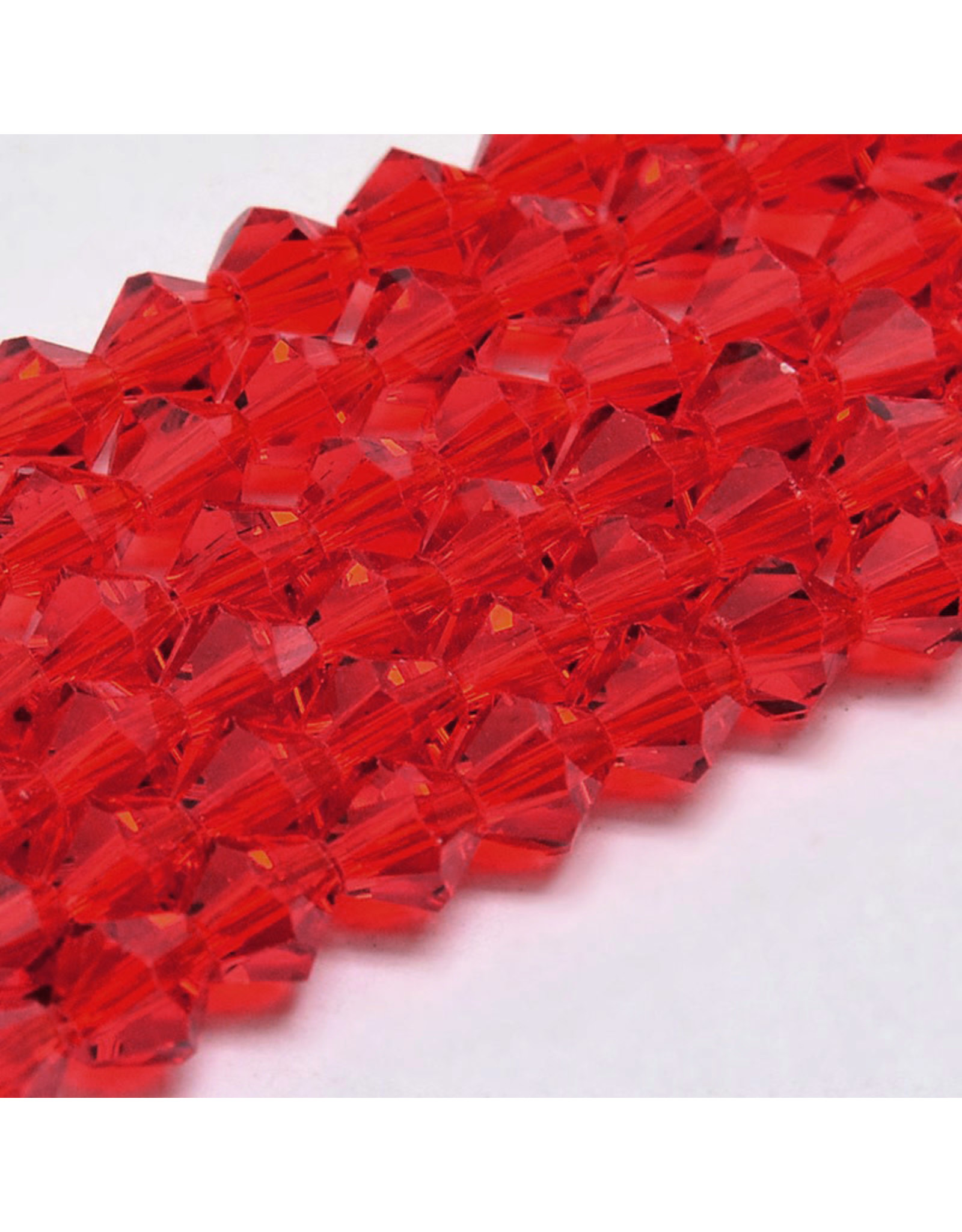 4mm Bicone  Red   'AA'  Grade  x95