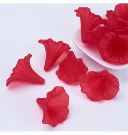41x32mm Acrylic Calla Lily Red  x5
