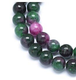 "Jade 8mm Dark Green Pink 15"" Strand  Approx  x46"