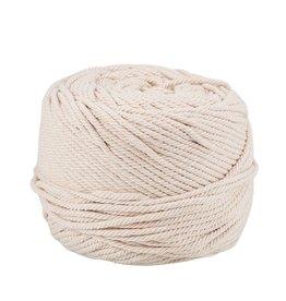 Cotton Cord  4mm  Ivory White  x100m