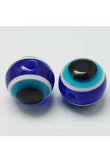6mm Resin Evil Eye Blue  x10