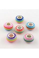 14x9mm Resin Rainbow Bead  x5