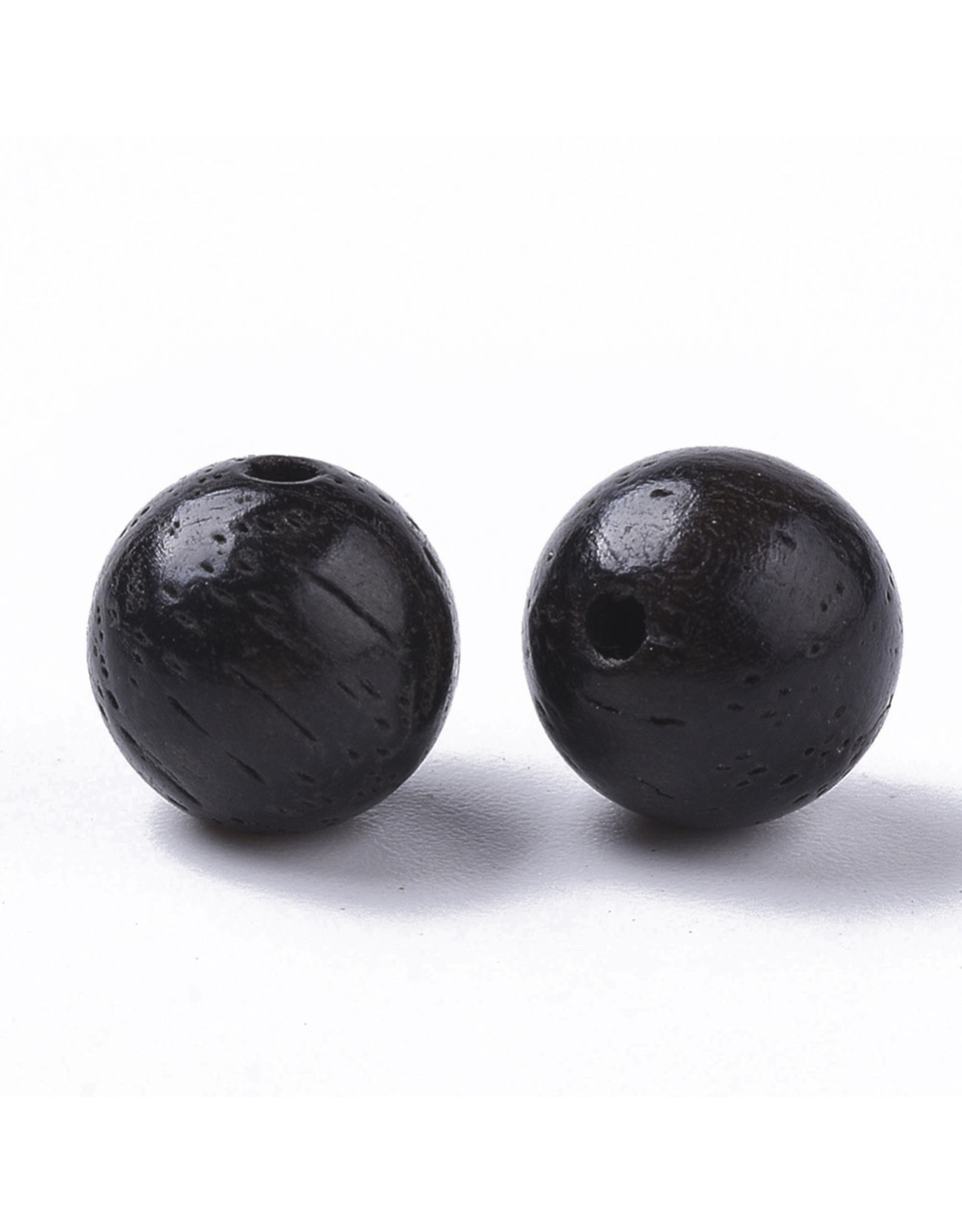 8mm Wood Round Bead Dark Brown x100