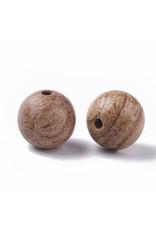 8mm Wood Round Bead Light Brown x100