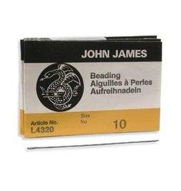 John James English Beading Needle Size 10  x25