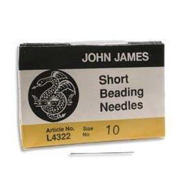 John James English Beading Needle Size 10 Short  x25