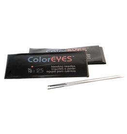 Beading Needle Size 10  Black Eye  x25