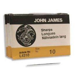 John James Beading Needle Size 10 Sharps   x25