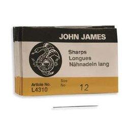John James Beading Needle Size 12 Sharps   x25