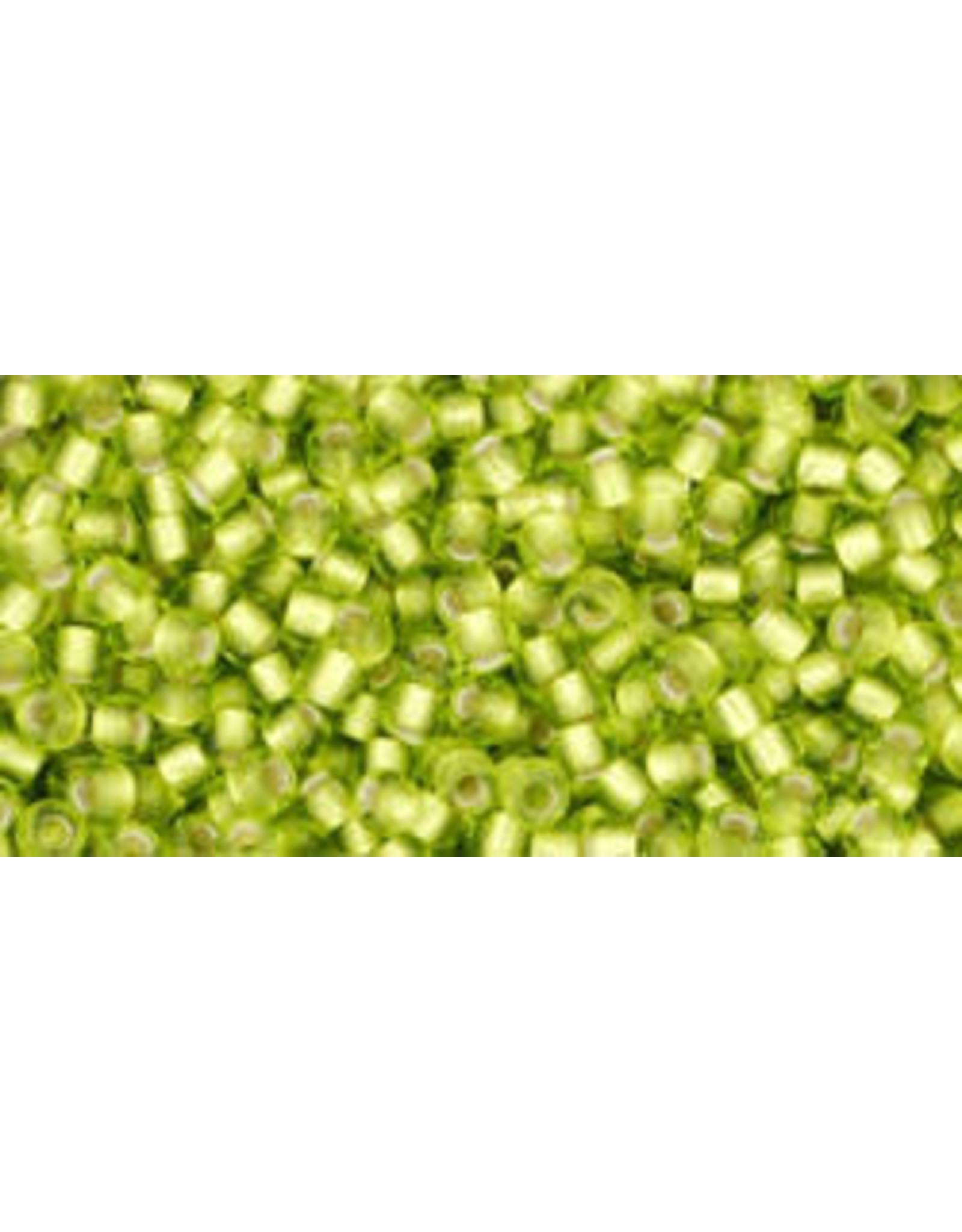 Toho 24f 11  Round 6g Lime Green  s/l Matte