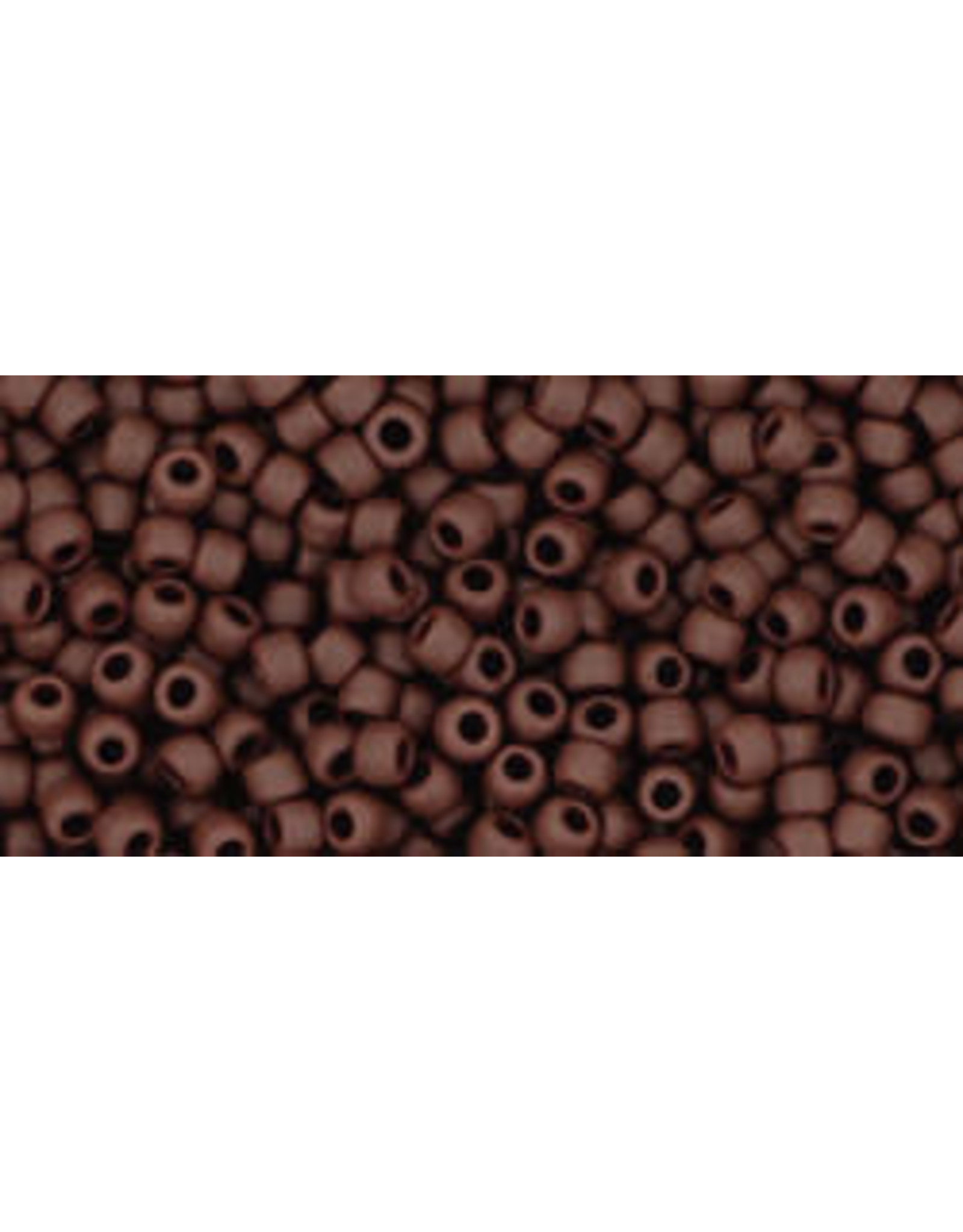 Toho 46f 11  Round 6g  Opaque Oxblood Brown Matte
