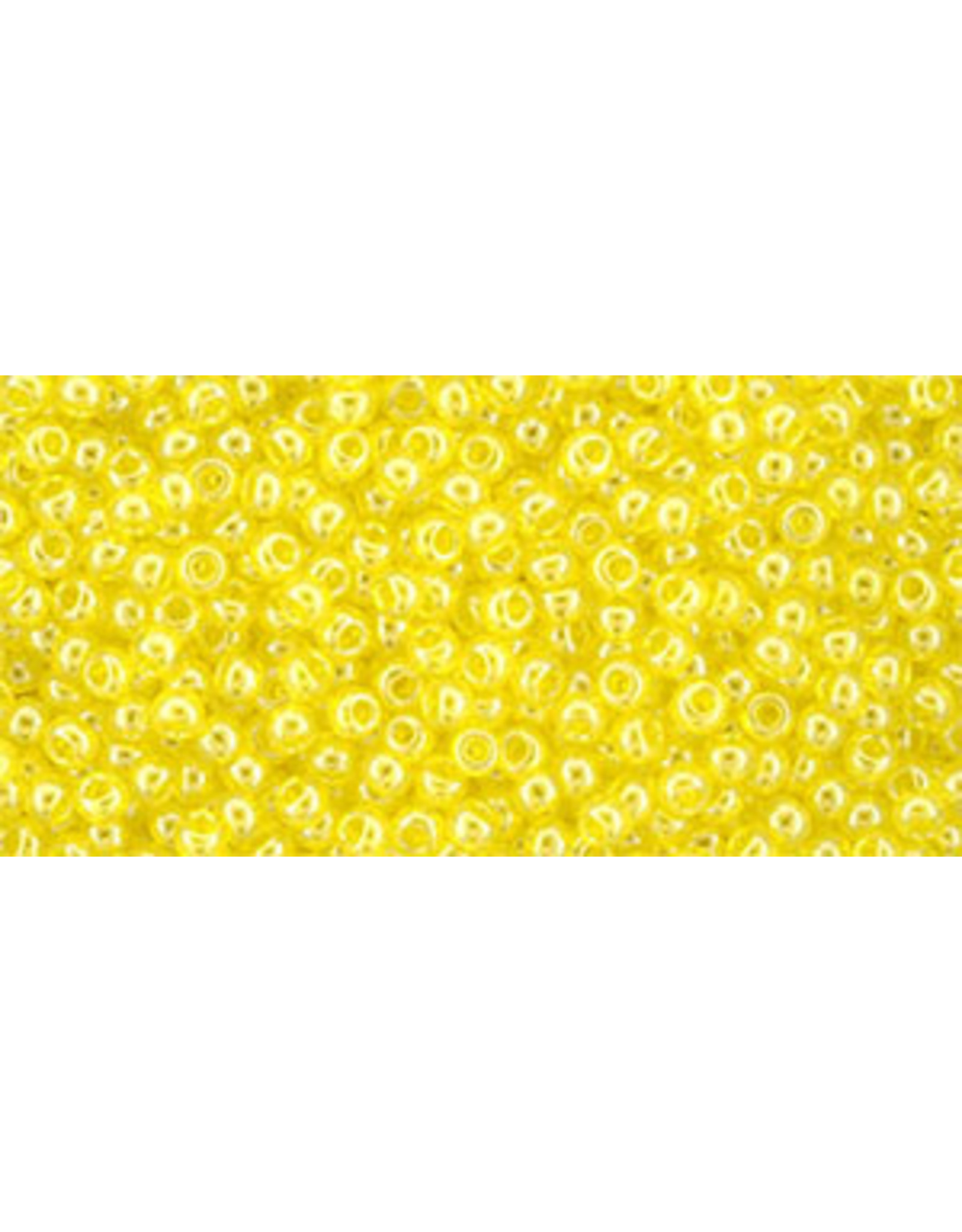 Toho 102 11  Round 6g Transparent Yellow Rose Lustre