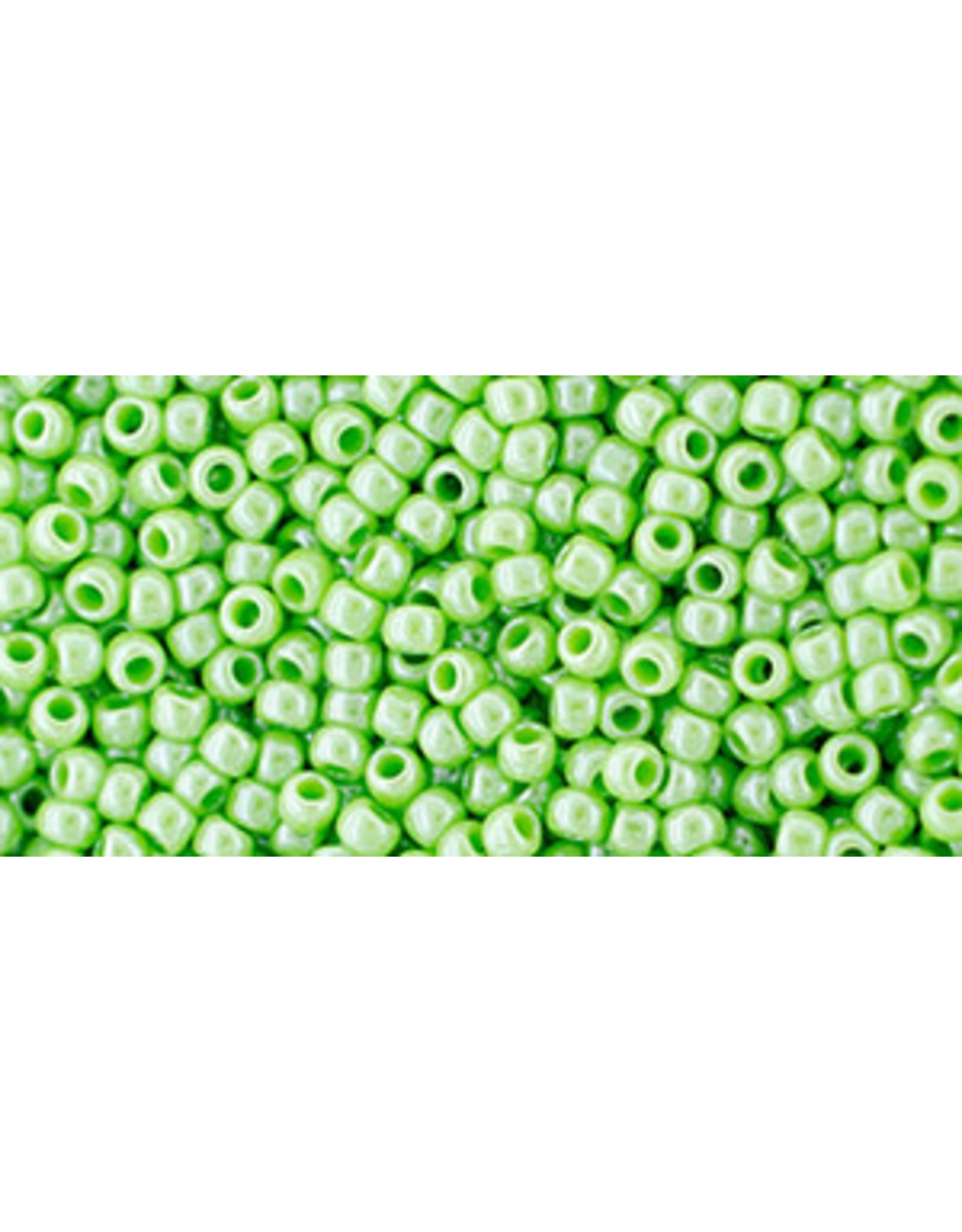 Toho 130L 11  Round 6g Opaque Light Green  Lustre
