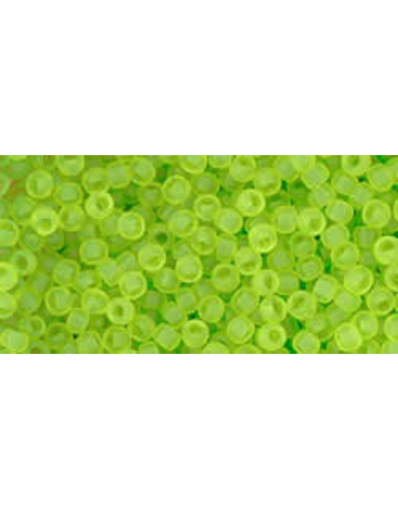 Toho 4f  11  Round 6g Transparent Lime Green Matte