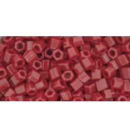 Toho 45 8  Hex 6g Opaque Pepper Red