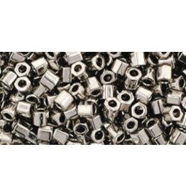 Toho 711 8  Hex 6g Nickel Grey Metallic