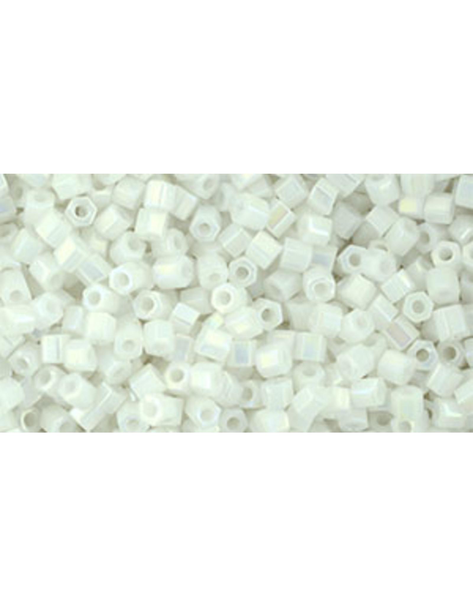 Toho 401 11  Hex 6g Opaque White AB