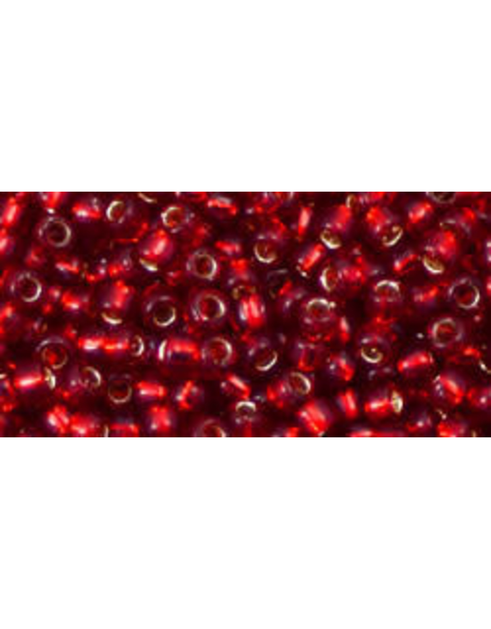 Toho 25c  8  Round 6g  Ruby Red s/l