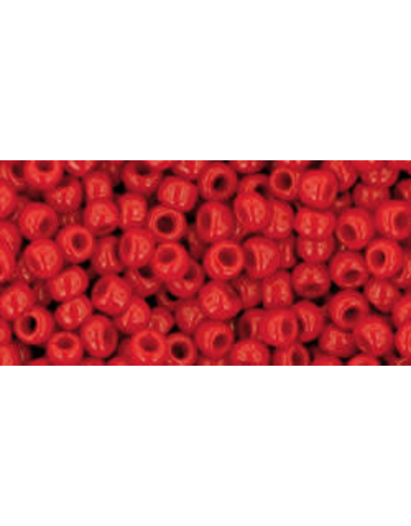 Toho 45  8  Round 6g  Opaque Pepper Red