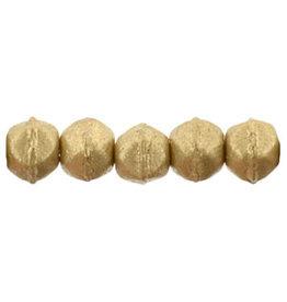 k0171 3mm English Cut  Gold Flax Matte Metallic  x50