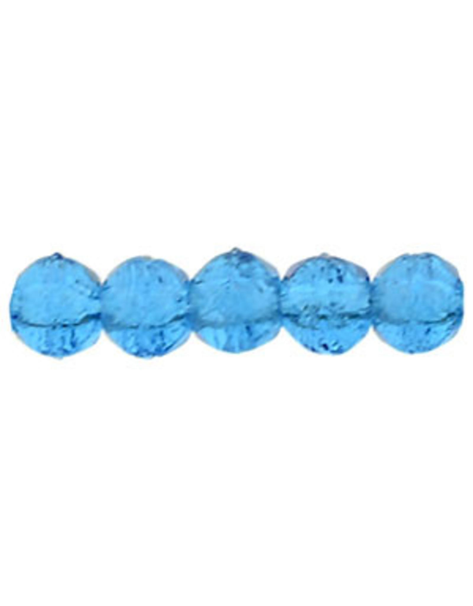 6008 3mm English Cut Capri Blue x50