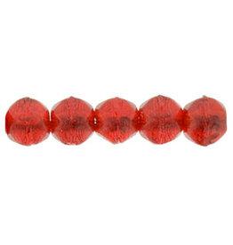 9008 3mm English Cut Siam Ruby Red x50