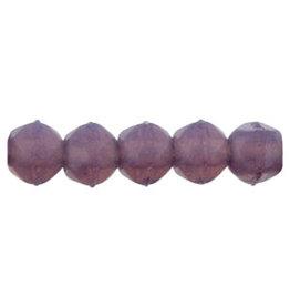 21010 3mm English Cut Milky Amethyst Purple x50