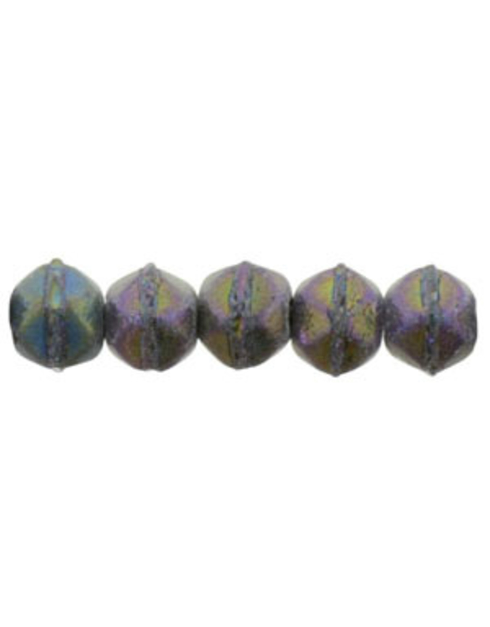 21195 3mm English Cut Purple AB Matte Metallic x50