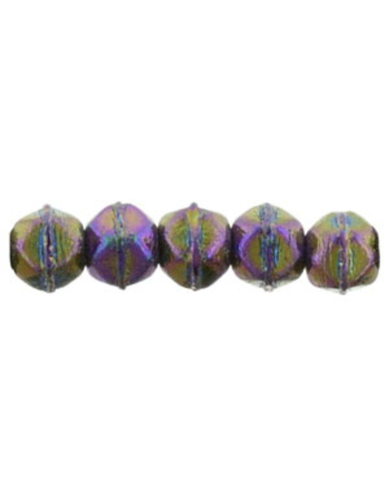 21495 3mm English Cut Purple AB  Metallic x50
