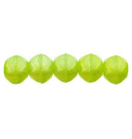 Lr51010 3mm English Cut Milky Dark Peridot Green AB Lustre x50