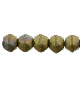 m15768 3mm English Cut Bronze Clay Brown Matte x50