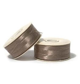 Nymo B'    Sandash Light Brown Small Bobbin 66m
