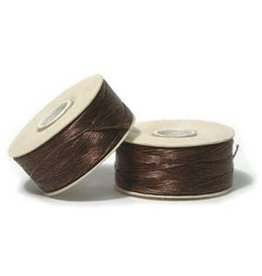 Nymo B'    Brown  Small Bobbin 66m