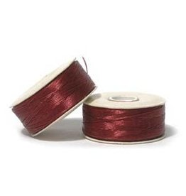 Nymo B'     Red  Small Bobbin 66m