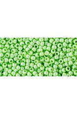 Toho 130LB 11  Round 40g  Opaque Light Green Lustre