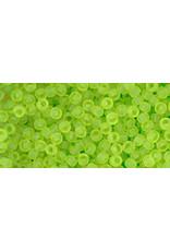 Toho 4fB 11  Round 40g Transparent Lime Green Matte