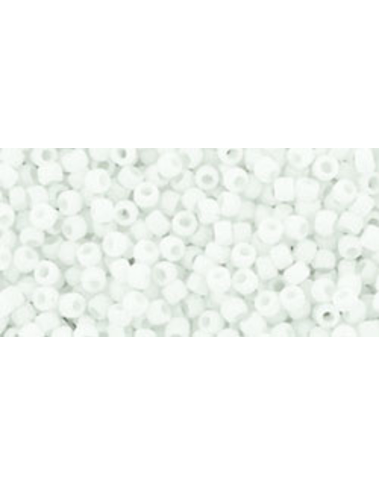 Toho 41fB 15  Round 20g  Opaque White Matte