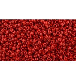 Toho 45aB 15  Round 20g  Opaque Cherry Red