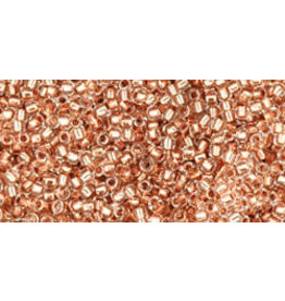 Toho 740B 15  Round 20g Clear Copper Lined