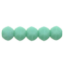 m6313 3mm English Cut Opaque Turquoise Matte x50