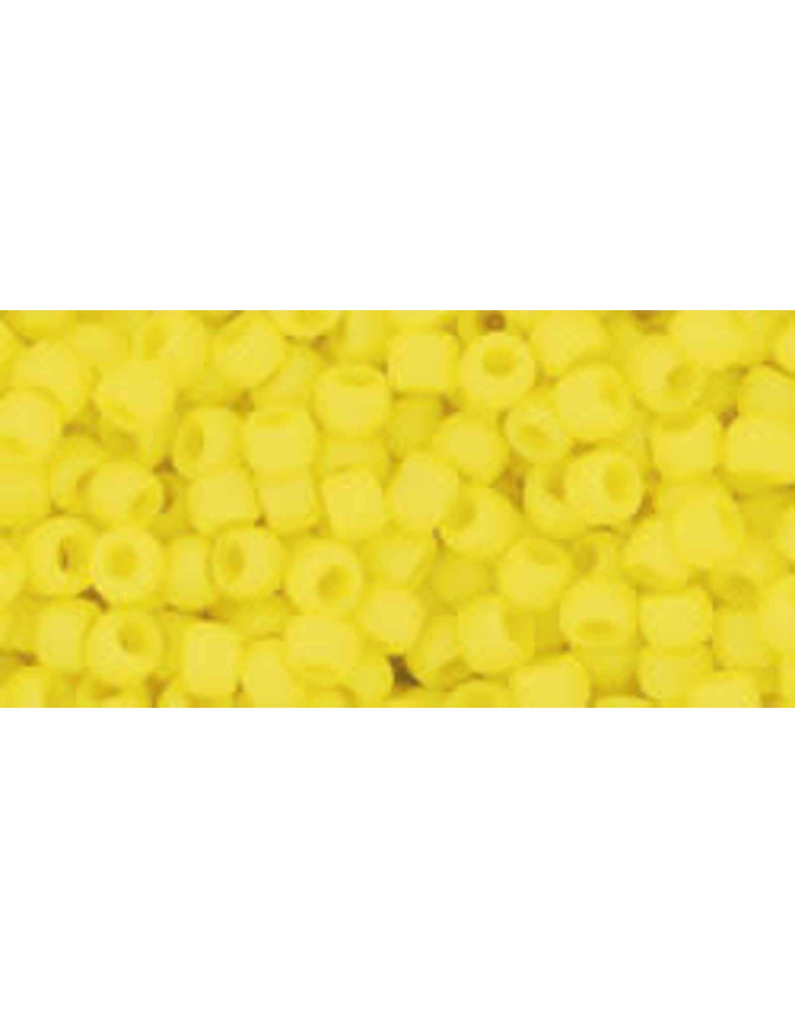 Toho 42fB 8  Round 40g Opaque Dandelion Yellow Matte