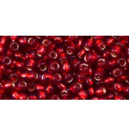 Toho 25cB 8  Round 40g Ruby Red s/l