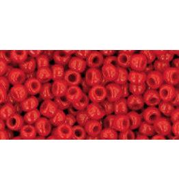 Toho 45B 8  Round 40g Opaque Pepper Red
