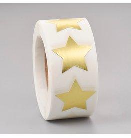 Gold Foil Sticker Star Blank 24mm  x1 Roll  500pcs