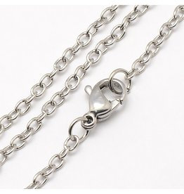 Stainless Steel  Necklace  2.5x2mm  17'' x1