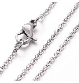 Stainless Steel  Necklace  1.5x.5mm  17'' x1
