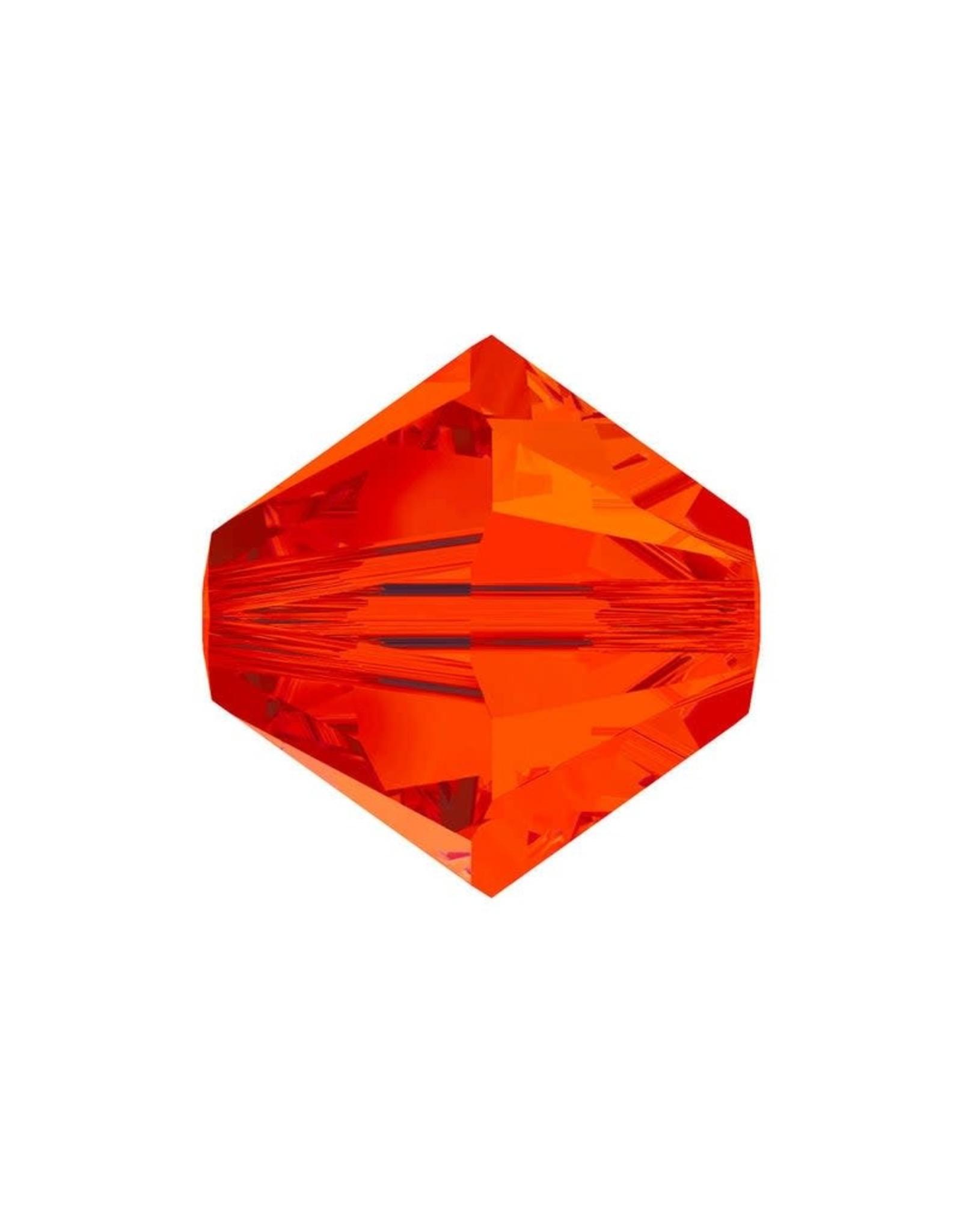 4mm Bicone  Dark Orange   'AAA'  Grade  x50
