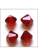 4mm Bicone  Siam Red   'AAA'  Grade  x50