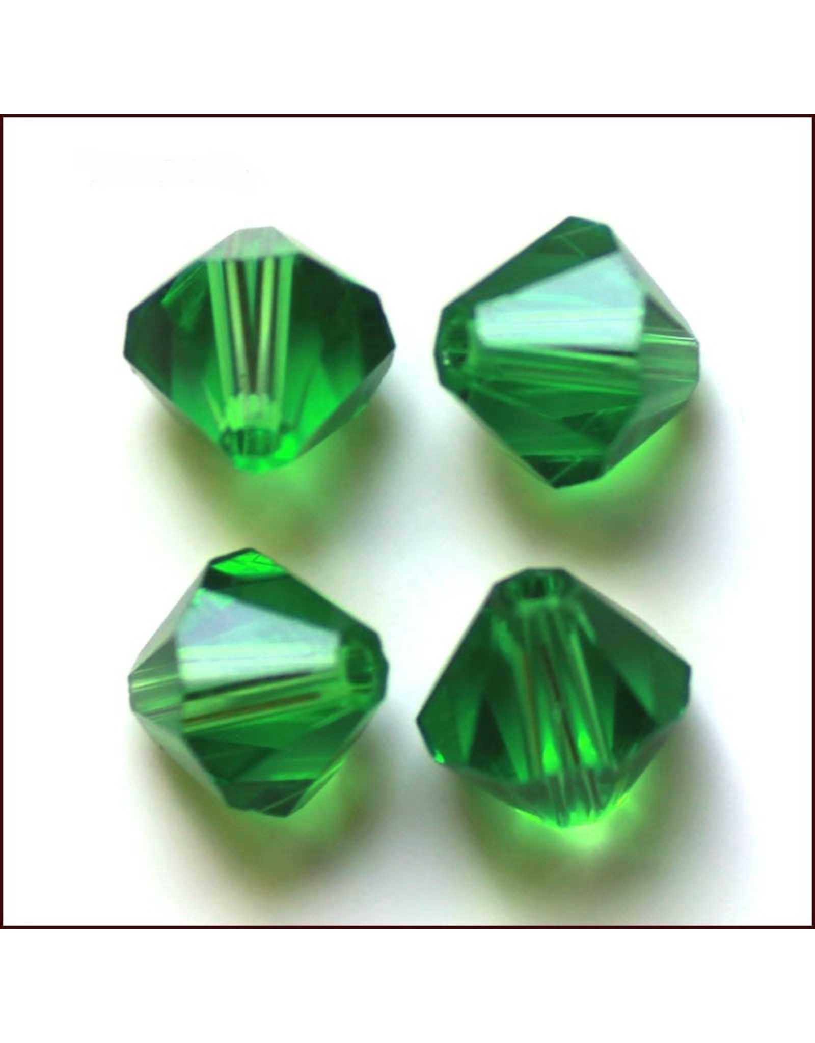 4mm Bicone  Green   'AAA'  Grade  x50
